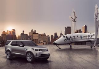 Land Rover's Discovery Vision Concept Car and SpaceShipTwo