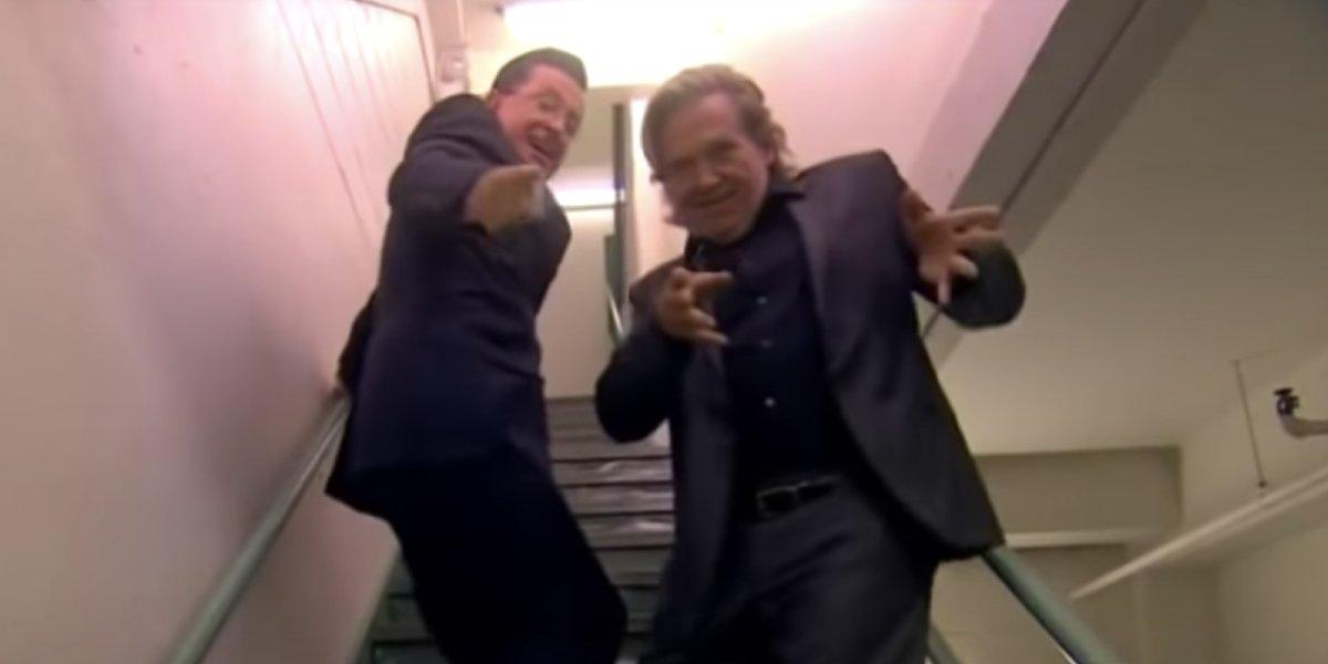 Stephen Colbert and Jeff Bridges on The Colbert Report
