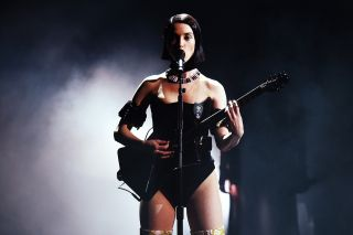 St. Vincent performs at the Grammys, 2019