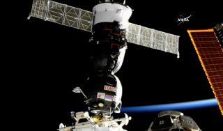 Soyuz Docks with Space Station