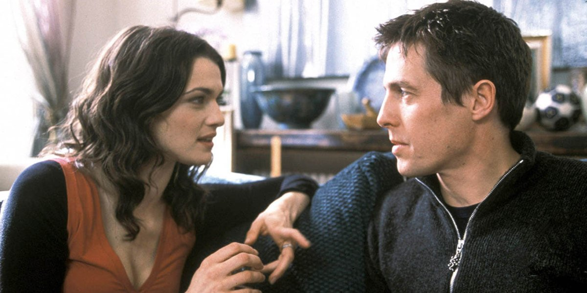 Rachel Weisz and Hugh Grant in About a Boy