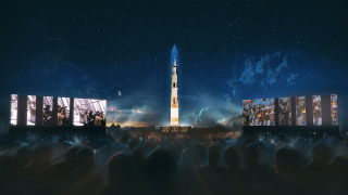 To mark the 50th anniversary of NASA's Apollo 11's first voyage to the moon, U.K.-based production company 59 Productions has partnered with the Smithsonian's National Air and Space Museum to create a spectacular animated projection mapping show on the Washington Monument.