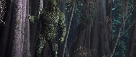 The plant-elemental Swamp Thing looks over his swamp