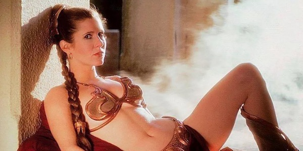 Carrie Fisher in the Slave outfit