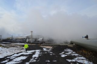 Researchers have captured carbon dioxide from Iceland's Hellisheidi geothermal power plant and turned it into a solid.