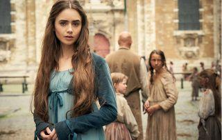 Lily Collins as Fantine in BBC1's Les Misérables