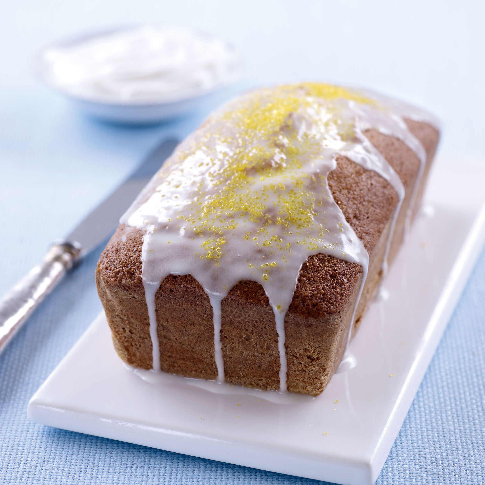 Lemon Pound Cake With Glacé Icing