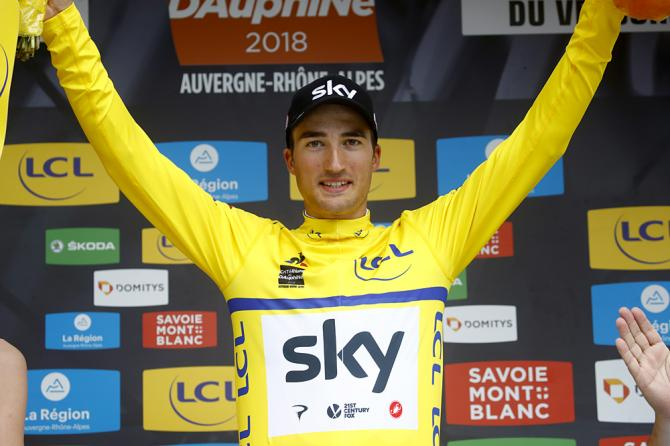 Gianni Moscon (Team Sky) moves into the overall lead at stage 4 of the Criterium du Dauphine