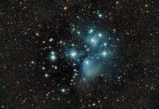 Pleiades Star Cluster by Josh Knutson