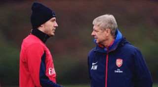 Nicklas Bendtner and Arsene Wenger, Arsenal