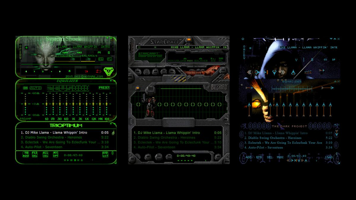 These old gaming Winamp skins are both incredibly badass and a fascinating time capsule