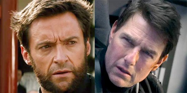 Hugh Jackman as Wolverine Tom Cruise in Mission: Impossible