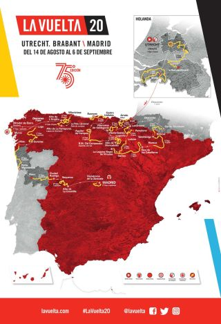 The overall map of the 2020 Vuelta a Espana
