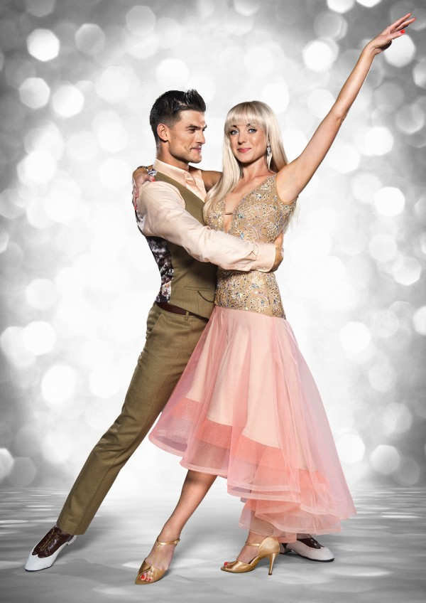 Helen George with Aljaz Skorjanec