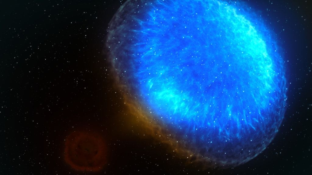 A neutron-star crash noticed 3 years in the past remains to be pumping out X-rays. However why?