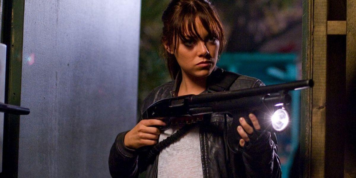Emma Stone in the film, Zombieland.