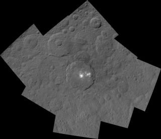 Ceres' Occator Crater and Surrounding Terrain