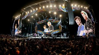 The Stones onstage in Havana