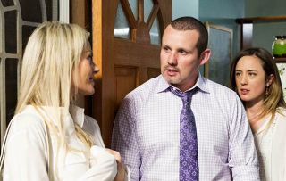 Dee Bliss returns, giving Toadie and Sonya Rebecci a shock in Neighbours