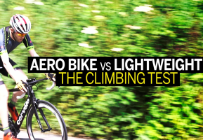 Which climbs faster – an aero bike or lightweight bike? (video)