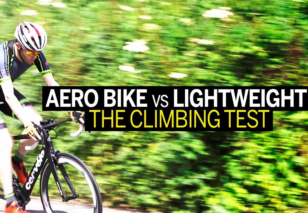 Which climbs faster – an aero bike or lightweight bike? (video)