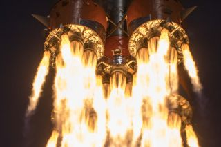 Russia's most recent launch of a Soyuz rocket carried three astronauts to the International Space Station on April 9, 2020.