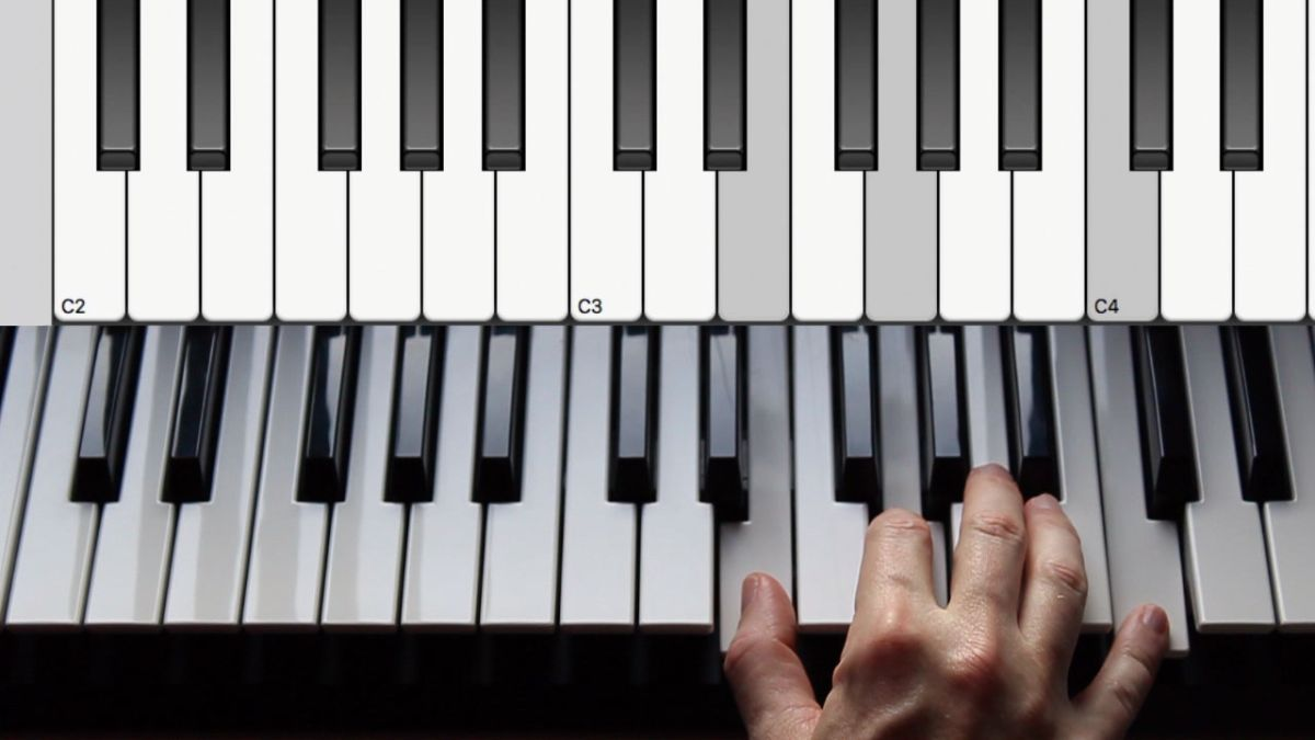 Learn to play major and minor piano chords
