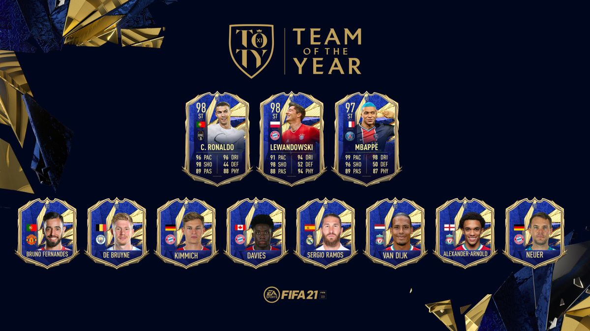 FIFA 21 TOTY (Team Of The Year): Bruno Fernandes in, Messi out
