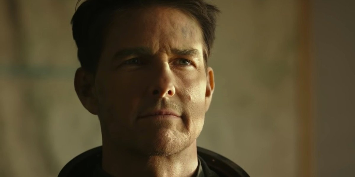 Tom Cruise in Maverick's trailer