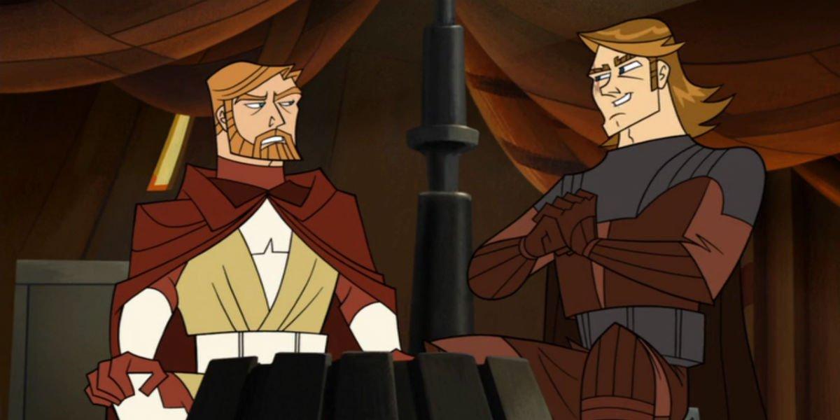 Obi-Wan and Anakin in Star Wars: The Clone Wars