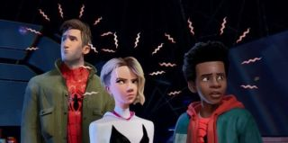Peter Parker, Miles Morales and Gwen Stacy in Spider-Man: Into the Spider-Verse
