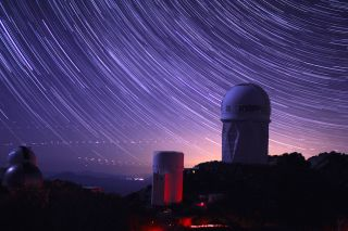 Mayall Telescope dome Star trails