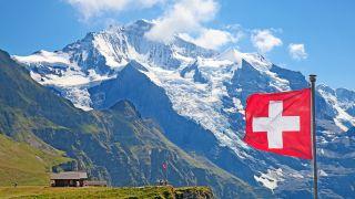 Jungfrau summit in the Alps