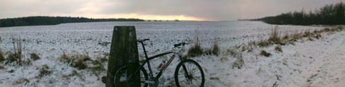 Philiip Gale, 2010 snowy cycling photos