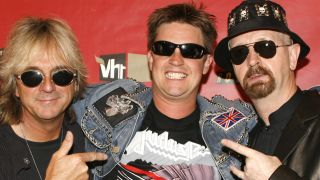 Jim Breuer with Glenn Tipton and Rob Halford of Judas Priest in 2006