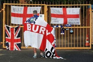 A Bury fan at Gigg Lane