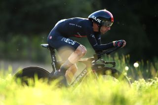 SANTIAGO DE COMPOSTELA SPAIN SEPTEMBER 05 Adam Yates of United Kingdom and Team INEOS Grenadiers sprints during the 76th Tour of Spain 2021 Stage 21 a 338 km Individual Time Trial stage from Padrn to Santiago de Compostela lavuelta LaVuelta21 ITT on September 05 2021 in Santiago de Compostela Spain Photo by Tim de WaeleGetty Images