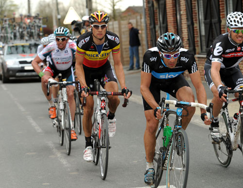Juan Antonio Flecha, Thor Hushovd, Tom Boonen, Paris-Roubaix 2010