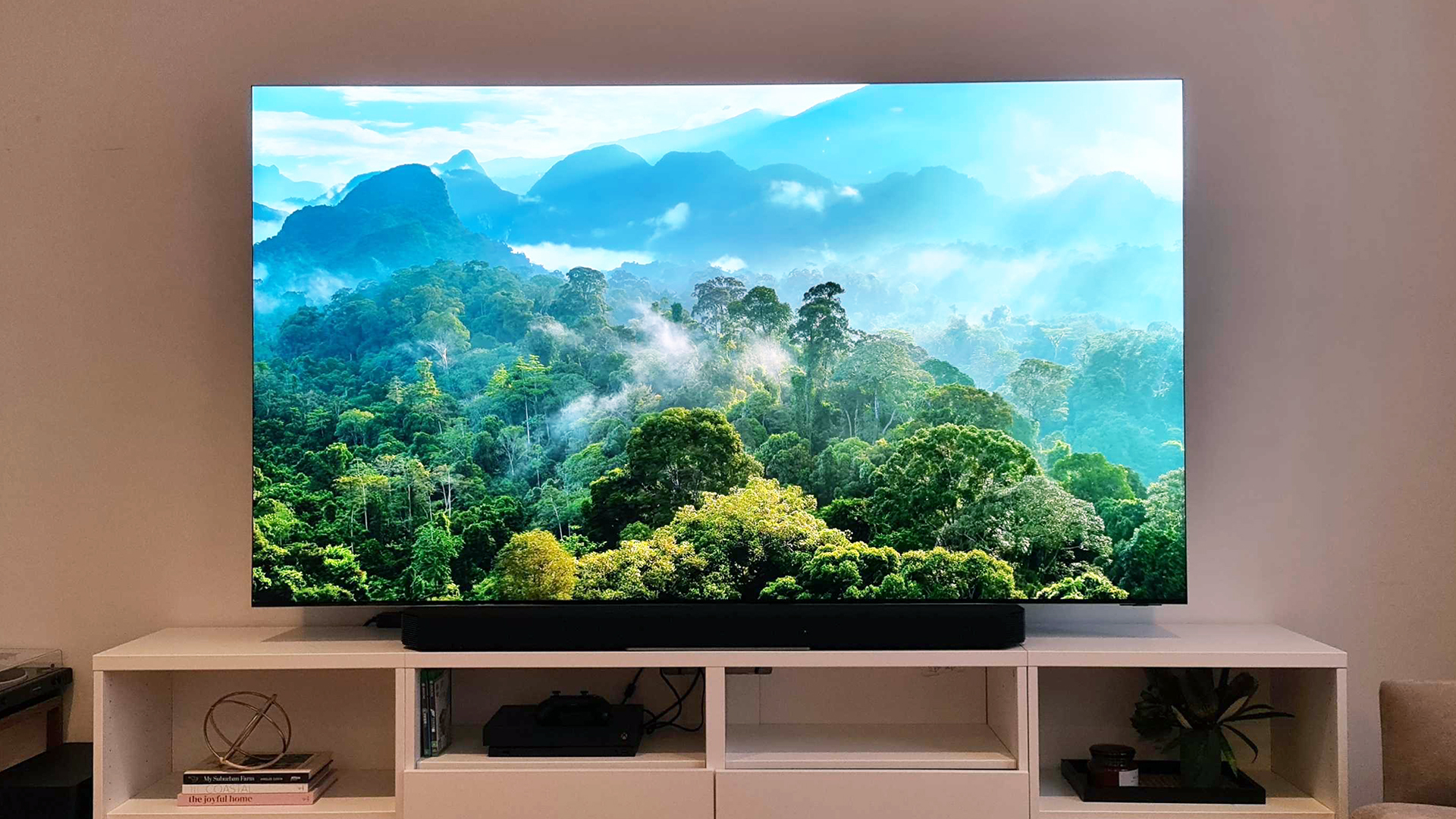 The Samsung QN900A Neo QLED 8K displayed in a lounge