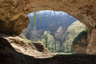 Entrance to Vindija Cave in Croatia.