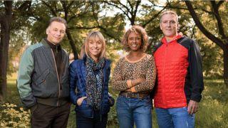 The Autumnwatch team: Chris Packham, Michaela Strachan, Gillian Burke, Iolo Williams
