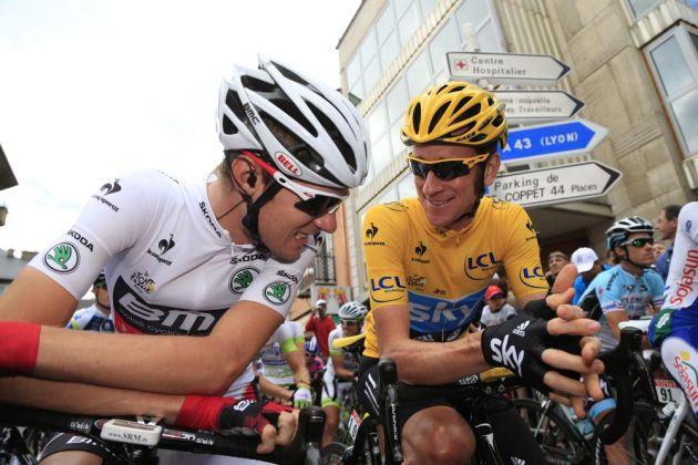 Tejay Van Garderen and Bradley Wiggins, Tour de France 2012, stage 12