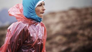 The traditional Sabrina poncho emerged as the weather showed its teeth on day three