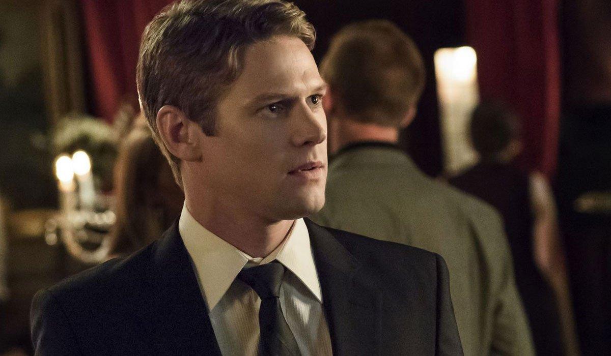 Zach Roerig In The Vampire Diaries looking intense.