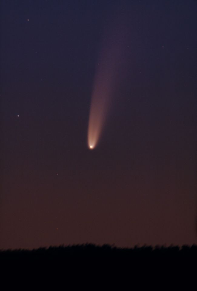 Astrophotographer Chris Schur captured this view of Comet NEOWISE F3 from Payson, Arizona before dawn on July 5, 2020.