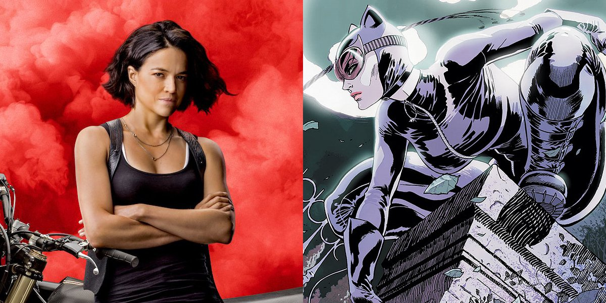 Michelle Rodriguez and Catwoman
