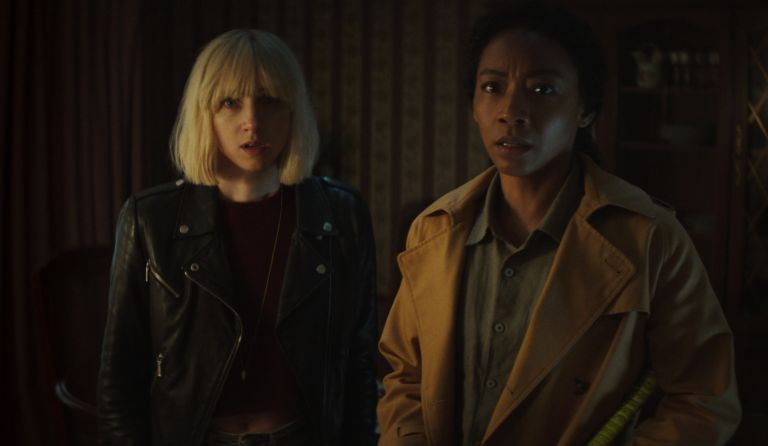 ZOE KAZAN as PIA BREWER and BETTY GABRIEL as SOPHIE BREWER in episode 108 of CLICKBAIT, ending explained