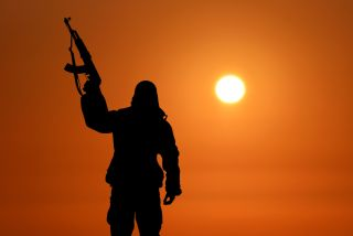 sunset, soldier, army, gun