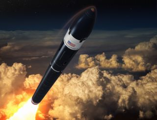 Artist's illustration of Phantom Space's Daytona rocket, which the company aims to start flying in 2023.
