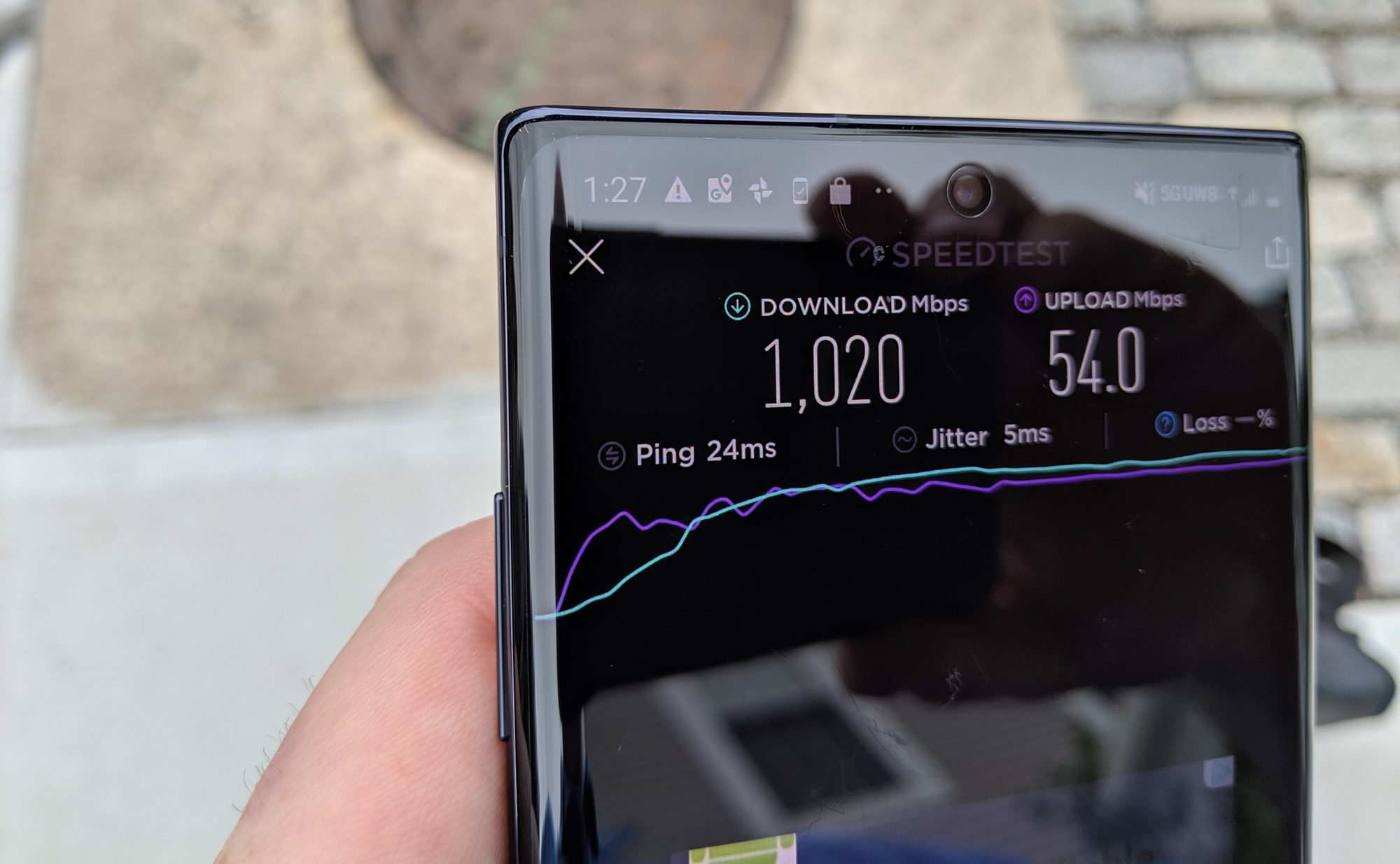 Galaxy Note 10 Plus 5g Tested 1 Gbps Speeds When You Can Connect Tom S Guide